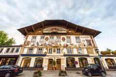 Famous houses of Oberammergau Royalty Free Stock Photo