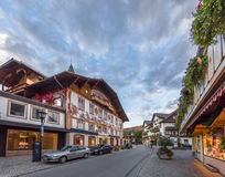 Famous houses of Oberammergau Stock Photo