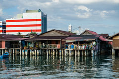Famous houses on stilts in Georgetown Stock Photo