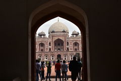 Famous Humayun's Tomb in Delhi, India. It is the tomb of the Mughal Emperor Humayun Royalty Free Stock Image