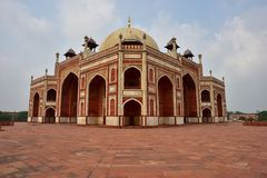 Famous Humayun's Tomb in Delhi, India. It is the tomb of the Mughal Emperor Humayun Stock Images