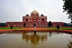 Famous Humayun's Tomb in Delhi, India. It is the tomb of the Mughal Emperor Humayun Royalty Free Stock Photos