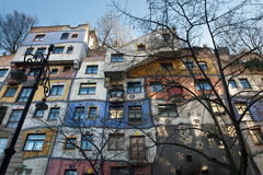 Famous Hundertwasser house in autumn, Vienna, Austria Royalty Free Stock Image