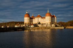 Famous hunting manor Moritzburg Royalty Free Stock Images