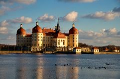 Famous hunting manor Moritzburg Royalty Free Stock Image