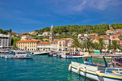 Famous Hvar palm waterfront view Stock Photography