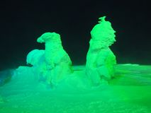 Iced Trees Monsters in Zao stock photo