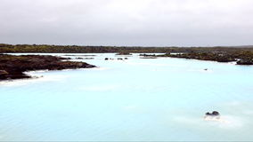 Famous Icelandic Geothermal Spa near Reykjavik in Iceland stock footage