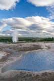 Famous Icelandic geyser Strokkur. Royalty Free Stock Images