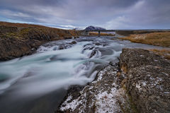 Famous icelandic popular tourist destination and hiking hub in Iceland Royalty Free Stock Image