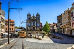 Famous Iglesia de San Ildefonso Church a Oporto Fotografia Stock Libera da Diritti