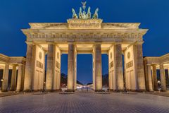 The famous illuminated Brandenburger Tor in Berlin royalty free stock photo