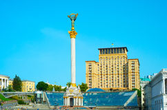 Famous Independence Monument. Kiev, Ukraine Royalty Free Stock Photos