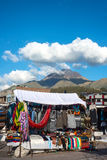 Famous Indian market in Otavalo, Ecuador Royalty Free Stock Image