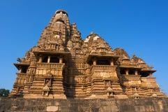 Famous Indian tourist landmark - Kandariya Mahadev Temple, Khajuraho, India. Stock Photo