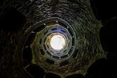 Famous Initiation Well in Portugal. The famous Initiation Well at Quinta da Regaleira, Sintra, Portugal Royalty Free Stock Photos