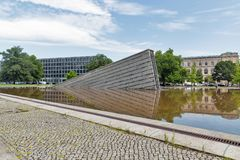 Invaliden park with Invaliden wall or Mauerbrunnen in Berlin, Germany. Royalty Free Stock Photos