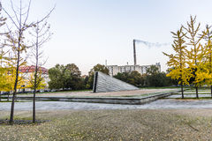 Famous Invalidenpark with invaliden wall in Berlin Stock Photo