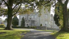 Famous Irish Public Castle , Dromoland and golf club, County Clare, Ireland stock footage