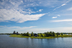 Famous island of Kizhi in Lake Onega in Karelia in Russia Royalty Free Stock Images