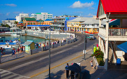 Famous island with little colorful buildings and various shops attracting thousands of tourists every day. Royalty Free Stock Photos