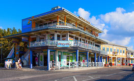Famous island with little colorful buildings and various shops attracting thousands of tourists every day. Stock Images
