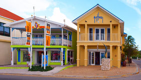 Famous island with little colorful buildings and various shops attracting thousands of tourists every day. Royalty Free Stock Photography