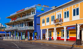 Famous island with little colorful buildings and various shops attracting thousands of tourists every day. Stock Image