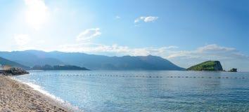 Famous Island of Sveti Nikola in Budva. Montenegro, Adriatic sea, Europe. Stock Image