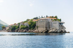 The famous island of Sveti Stefan in Adriatic sea near Budva. Montenegro Royalty Free Stock Image