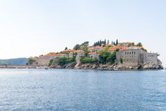 The famous island of Sveti Stefan in Adriatic sea near Budva. Montenegro Stock Photo
