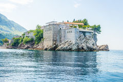 The famous island of Sveti Stefan in Adriatic sea near Budva. Montenegro Royalty Free Stock Images