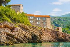 The famous island of Sveti Stefan in Adriatic sea near Budva. Montenegro Stock Images