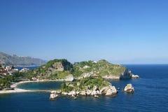 The famous Isola Bella near Taormina Stock Photos