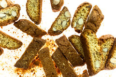 Famous Italian cookies called cantuccini Stock Image