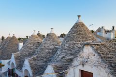 Famous Italian landmark, trulli of Alberobello, Apulian region, Stock Photo