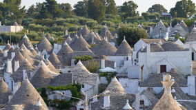 Famous Italian landmark, trulli of Alberobello, Apulian region, Royalty Free Stock Images