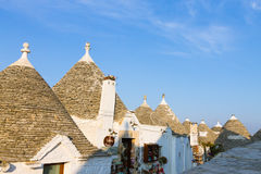 Famous Italian landmark, trulli of Alberobello, Apulian region, Royalty Free Stock Photos