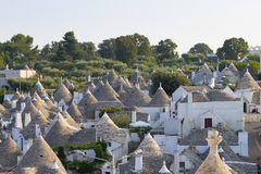 Famous Italian landmark, trulli of Alberobello, Apulian region, Stock Photography