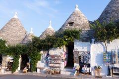 Famous Italian landmark, trulli of Alberobello, Apulian region, Royalty Free Stock Image