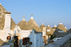 Famous Italian landmark, trulli of Alberobello, Apulian region, Royalty Free Stock Image