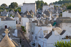 Famous Italian landmark, trulli of Alberobello, Apulian region, Royalty Free Stock Photo