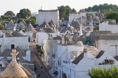 Famous Italian landmark, trulli of Alberobello, Apulian region, Royalty Free Stock Photography