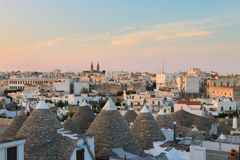Famous Italian landmark, trulli of Alberobello, Apulian region, Stock Photo