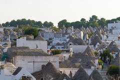 Famous Italian landmark, trulli of Alberobello, Apulian region, Stock Images