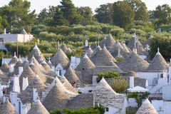 Famous Italian landmark, trulli of Alberobello, Apulian region, Stock Photography