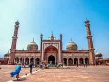 Famous Jama Masjid Mosque in old Delhi, India Royalty Free Stock Photography