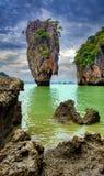 Famous James Bond island in Phang Nga Royalty Free Stock Photo