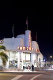 Famous Jerrys Deli in South Miami. MIAMI BEACH, USA - August 02: Night view at Ocean drive on August 02,2010 in Miami Beach, Florida. Art Deco Night-Life in Stock Photo