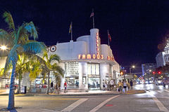 Famous Jerrys Deli in South Miami. MIAMI BEACH, USA - August 02: Night view at Ocean drive on August 02,2010 in Miami Beach, Florida. Art Deco Night-Life in Stock Photos